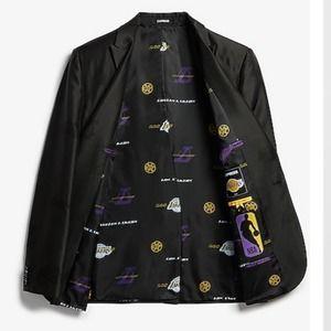 NBA Los Angeles Lakers Black Tuxedo Jacket 38R